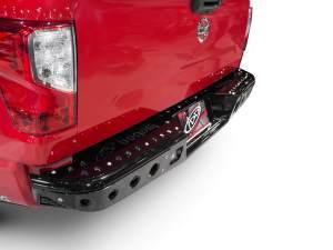"Nissan Titan Venom ""R"" Rear Bumper with Dually light mounts in Hammer Black with Satin Black panels"