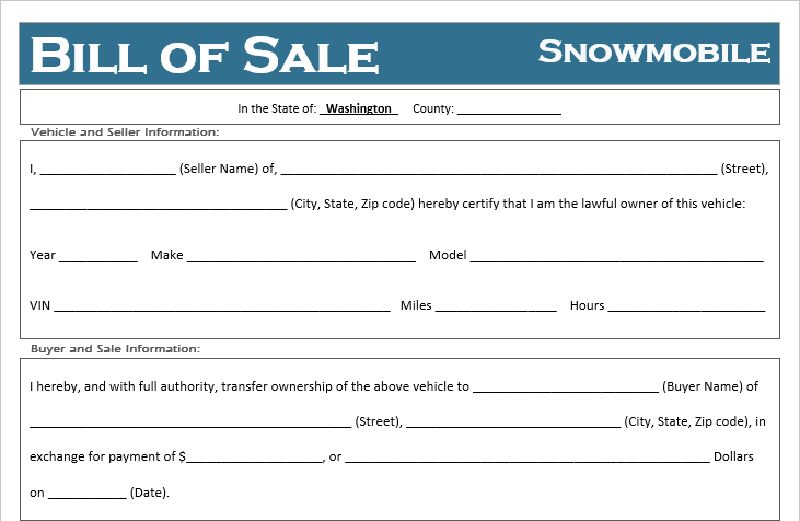 copy of bill of sale for car
