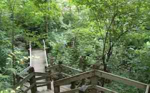 A portion of the staircase at Castlewood State Park. ©Missouri State Parks