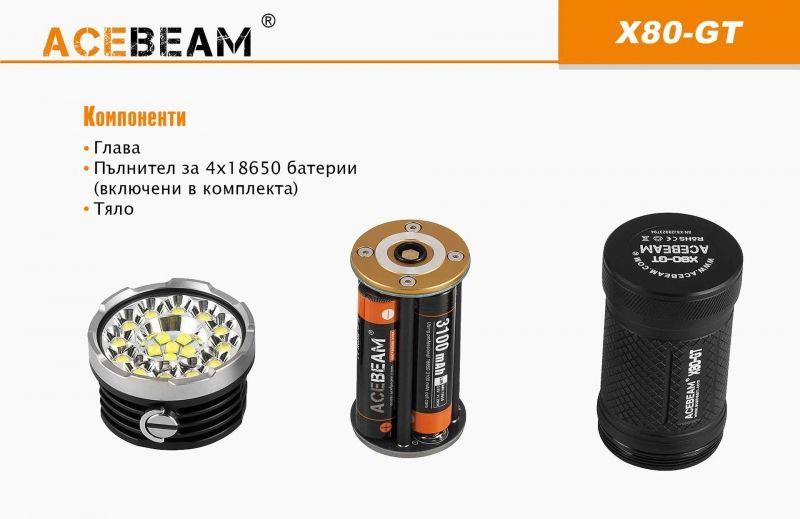 ACEBEAM X80GT: най-мощният за размера си фенер в света