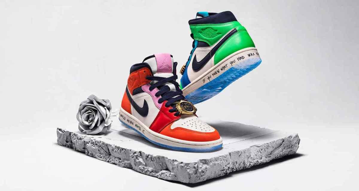 "Air Jordan 1 Mid ""Fearless"" Sneaker"