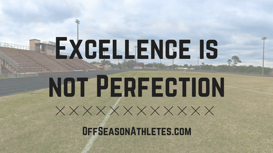 Excellence is not perfection