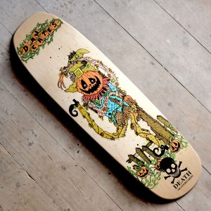 Death Skateboards 9 0 Cates Pumpkin Main