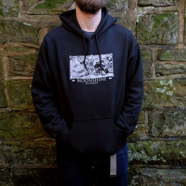 Moonshine Dimensions Hoodie On Front