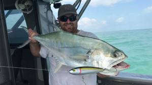 Queenfish caught on stickbait on offshore boats darwin fishing charter