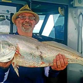 Jewfish with Offshore Boats bluewater fishing charters