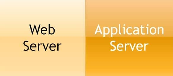 what is the difference between web server and application server