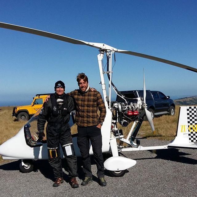 Our clients geting the chance to go on the spotting trips #wildedge  #sardinerun2017  #portstjohns #sardinenews  #gyrocopters