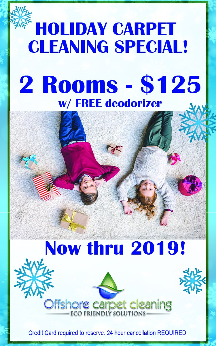 Holiday Carpet Cleaning Special 2 Rooms 125 Offshore