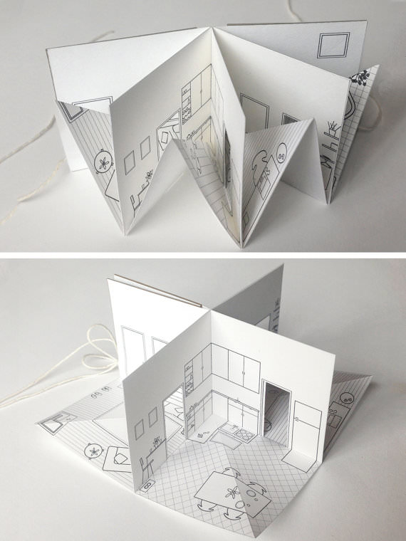 diy folding chair covers ikea dining malaysia paper house - small illustrated pop-up book