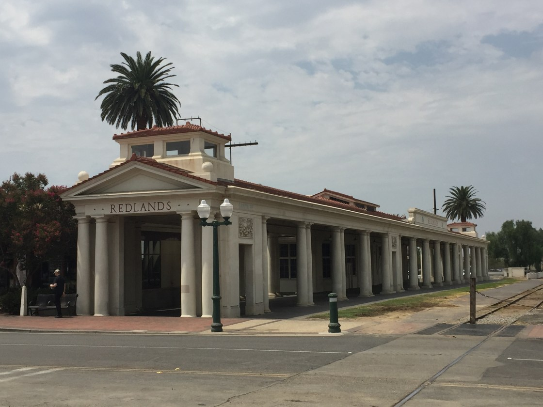 Historic Santa Fe Depot in downtown Redlands.
