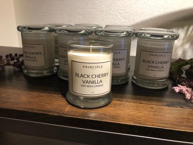 Candles at Principle Body Care