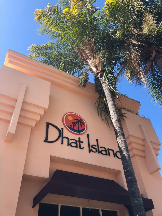 The outside of Dhat Island