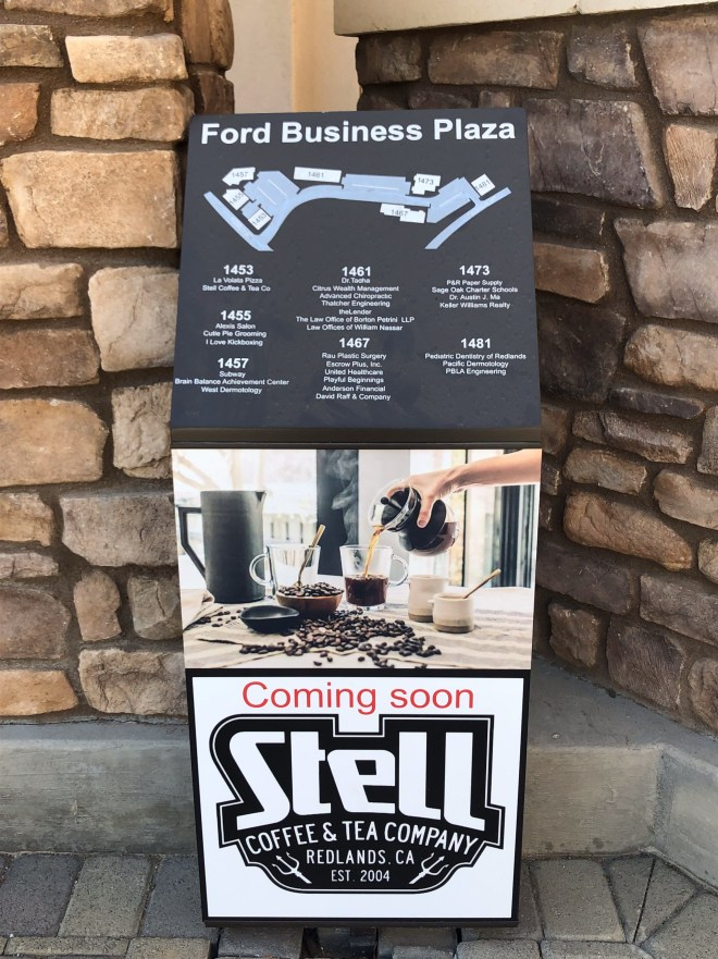 Stell Coffee & Tea Company sign