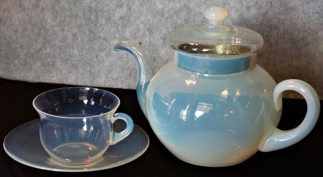 A Fry teapot and cup