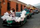 Graduation parade in Antigua, Guatemala