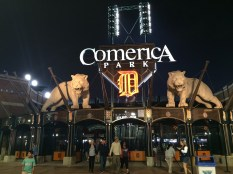 The Tigers have moved to Comerica Park.