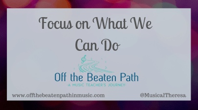 Focus on What We Can Do