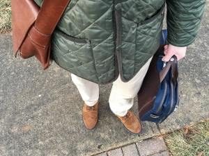 A great quiltedjacket and leather messengerbag are solid staples forhellip