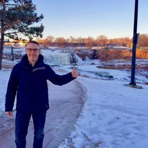 Checking out the sights insiouxfalls southdakota Its pretty cold uphellip