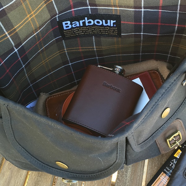 Barbour Waxed Field Bag Interior