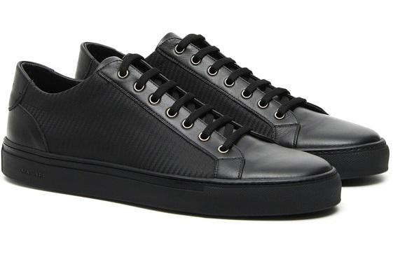 Canali Black Calfskin Sneakers_2