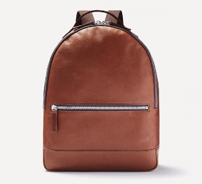 Frank+Oak Leather Backpack