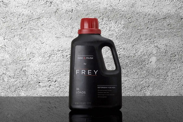 Frey Bottle with Concrete Background