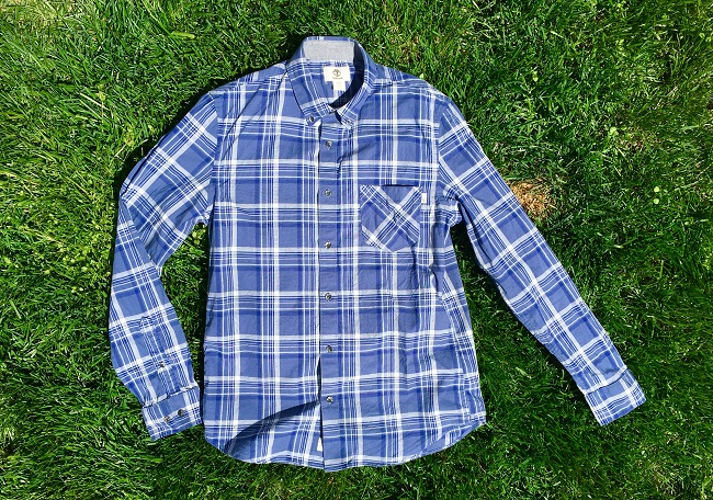 Timberland BD Shirt on Grass Flatlay