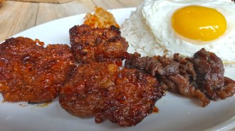 Rice Tinapa with Chicken and Egg