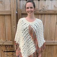 Fallen Leaves Poncho Crochet Pattern