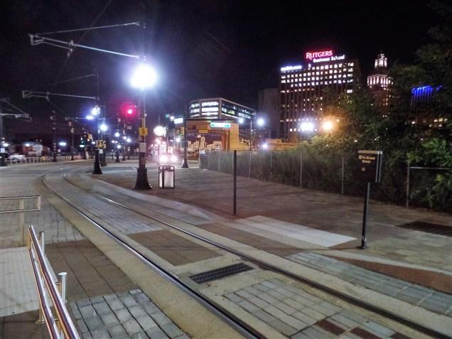 Newark light rail track