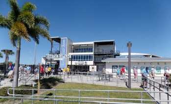 Front of stadium in Port Charlotte