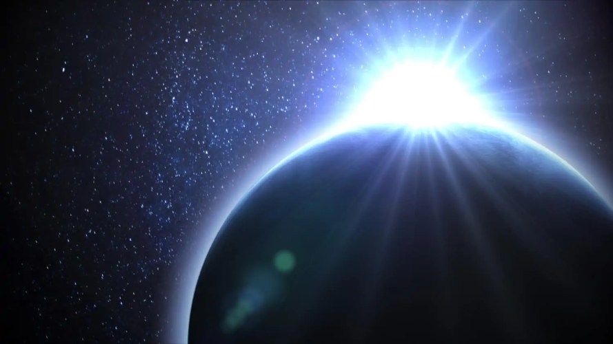 Sunlight shining on a planet corresponds to how the spiritual light of divine wisdom disperses false ideas in our minds