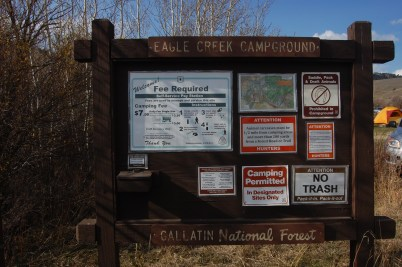Gallatin National Forest campgrounds make for a great (and cheaper) alternative to full first-come, first-served and Xanterra sites.