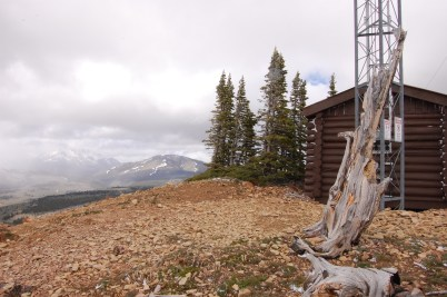 Radio Shop with Electric Peak in the distance