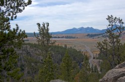 The view to the South from the top of Golden Gate Canyon. See Rustic Falls to the left of the road.