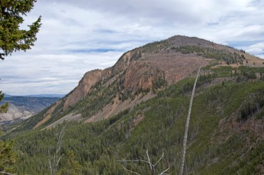 View of Bunsen Peak from the trail