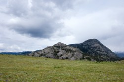 Much like its parallel neighor, Coyote Creek trail, the Buffalo Plateau has great views of Hellroaring Mountain.
