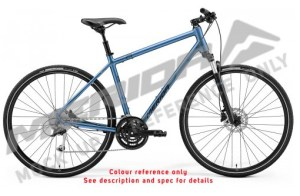 Merida Crossway 100 Women's Matt Blue Hybrid