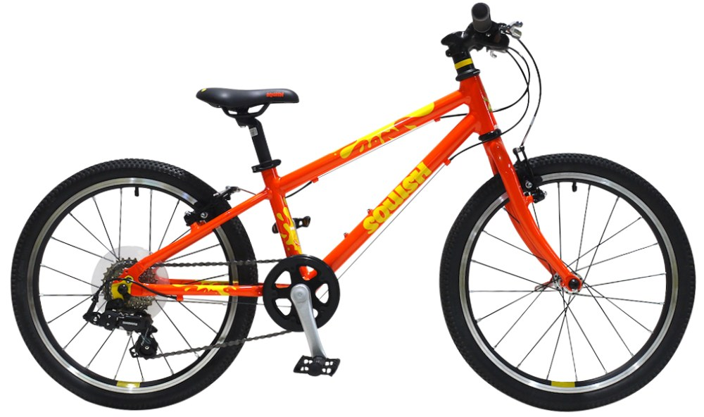 "Squish 20"" Orange Hybrid bike"