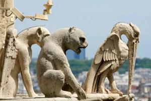 Gargoyles atop Notre Dame
