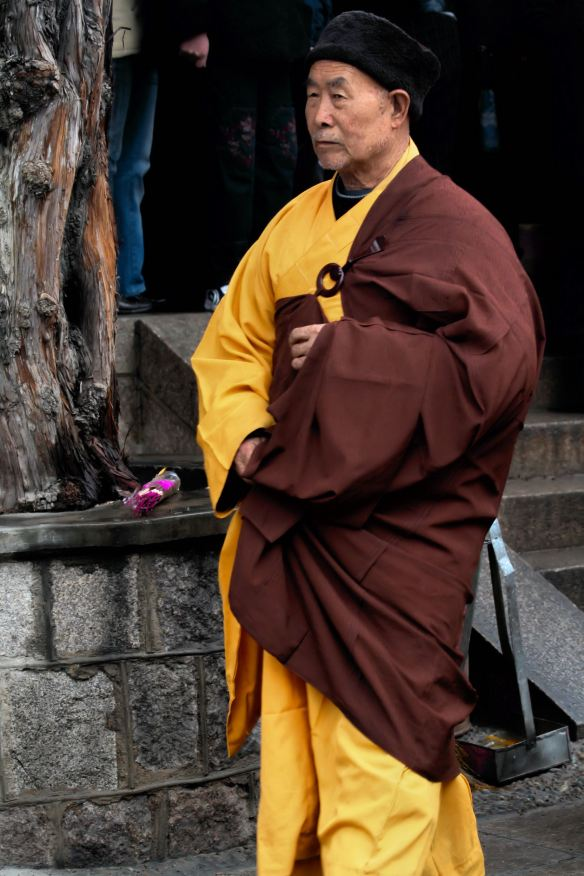 Chinese Monk at Temple