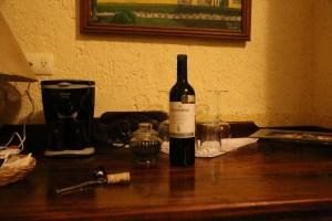 Complimentary Wine Casa Tia Micha