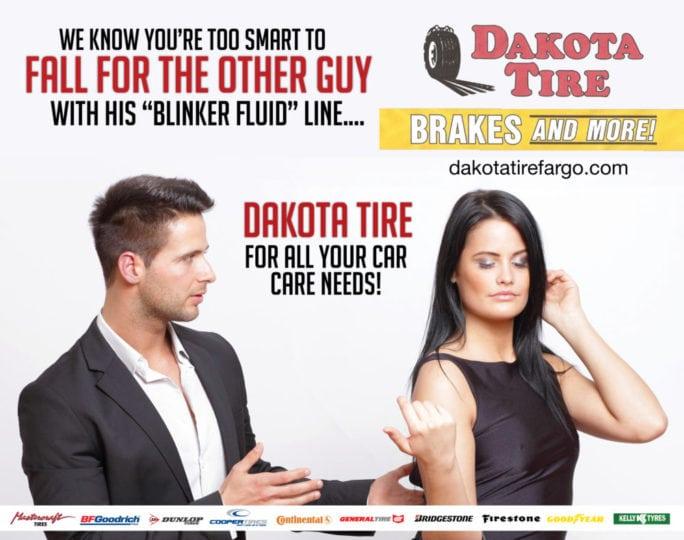 Dakota Tire | Indoor Billboards | Off The Wall Advertising