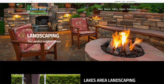Lakes Area Landscaping | Websites | Off The Wall Advertising