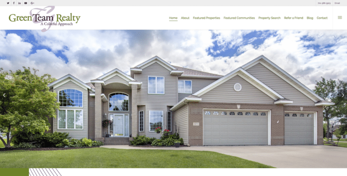 Green Team Realty | Website Design | Off The Wall Advertising