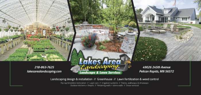 Lakes Area Landscaping | Print & Design | Off The Wall Advertising