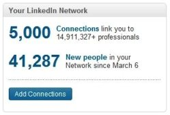 5000 LinkedIn Connections