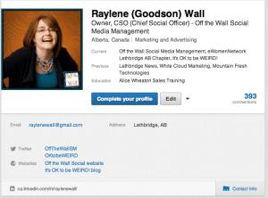 Edit LinkedIn Profile from Profile Screen